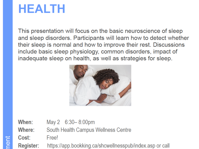 Sleep: The Keystone of Health Free Presentation Poster