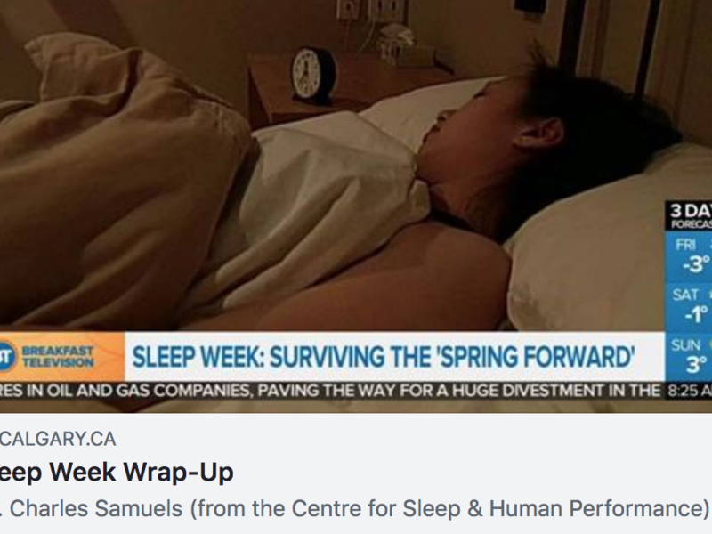 screen shot of BT Calgary Video of sleep wrap-up with Dr. Samuels