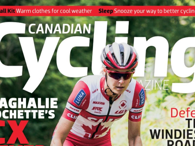 Canadian Cycling Magazine November Cover