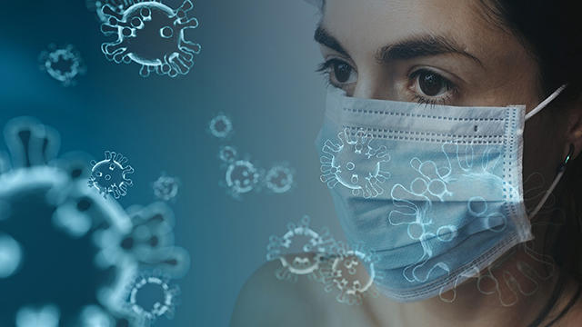 health care worker with face mask