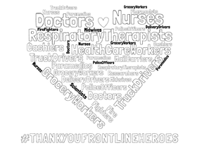 Thank You Essential Workers Colouring Sheet Download Our Frontline Heroes Colouring Sheet And Display To Show Your Appreciation